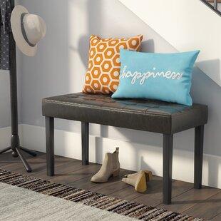 Latitude Run Brass Work Upholstered Bench