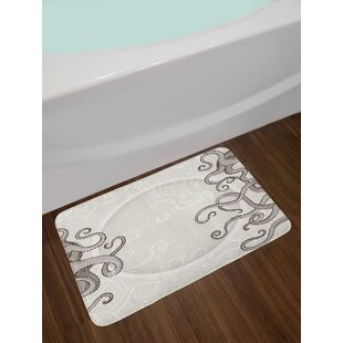 Kraken Fish Octopus Bath Rug