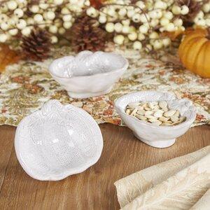 White Pumpkin Bowls (Set of 3)