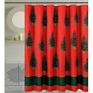 Best Reviews Bath Christmas Decorative Christmas Trees Shower Curtain ByDaniels Bath