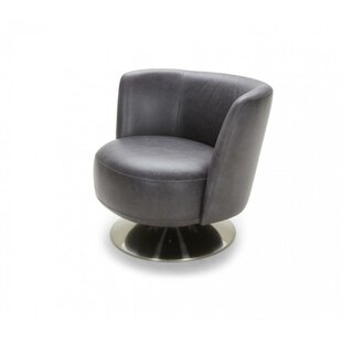 Orren Ellis Clarine Leatherette Upholstered Barrel Chair