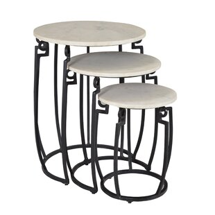 Latitude Run Candy 3 Piece Nesting Tables