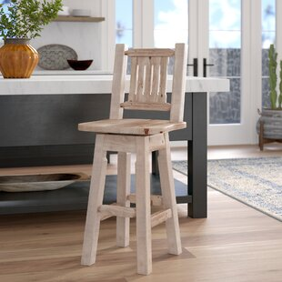 Abella 30 Rustic Swivel Bar Stool Loon Peak