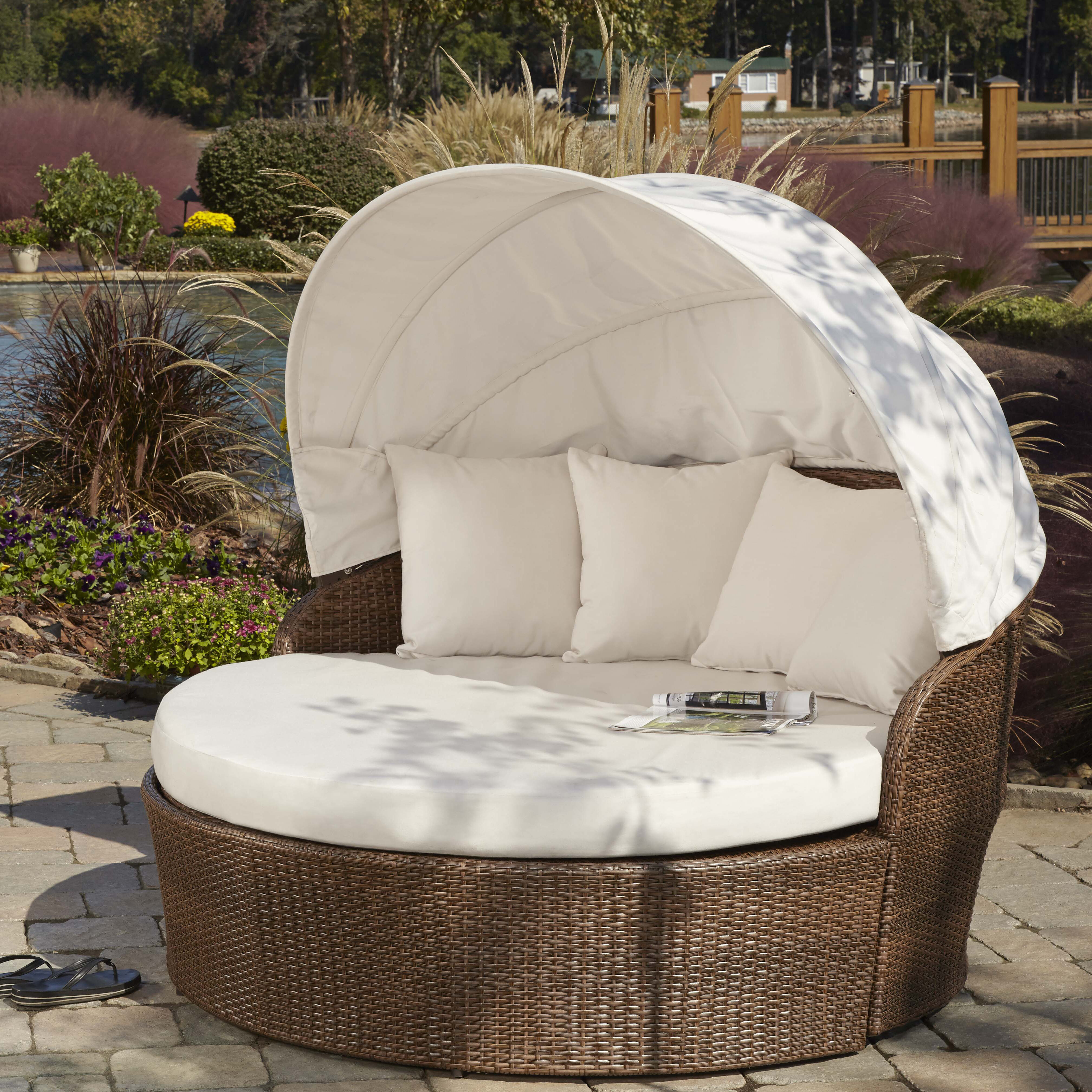 wicker best solutions of patio small a daybed ac canopy optimizing sofa outdoor perfect with daybeds