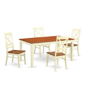 Napoli 5 Piece Dining Set by Wooden Impor..