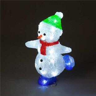Skating Snowman Lighted Display By The Seasonal Aisle
