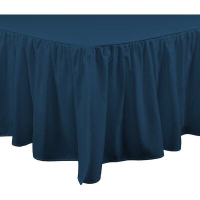 Brielle Stream 15 Bed Skirt Color: Teal, Size: California King