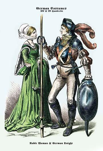 Buyenlarge German Costume Noble Woman And German Knight Ii Painting Print Wayfair