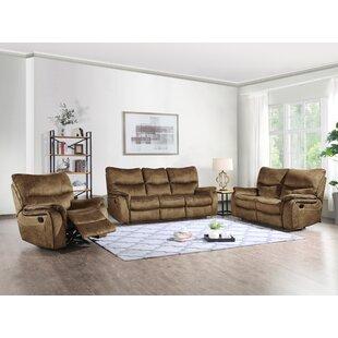 Palu Reclining 3 Piece Living Room Set by Loon Peak