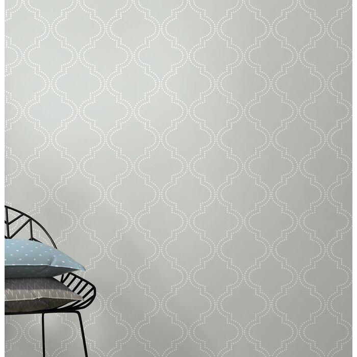 Grey Quatrefoil 18 X 20 5 Peel And Stick Wallpaper