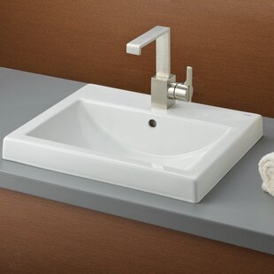 Cheviot Products Camilla Vitreous China Rectangular Drop-In Bathroom Sink with Overflow