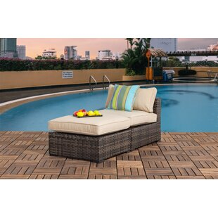 Harrington Outdoor Chaise Lounge with Cushions