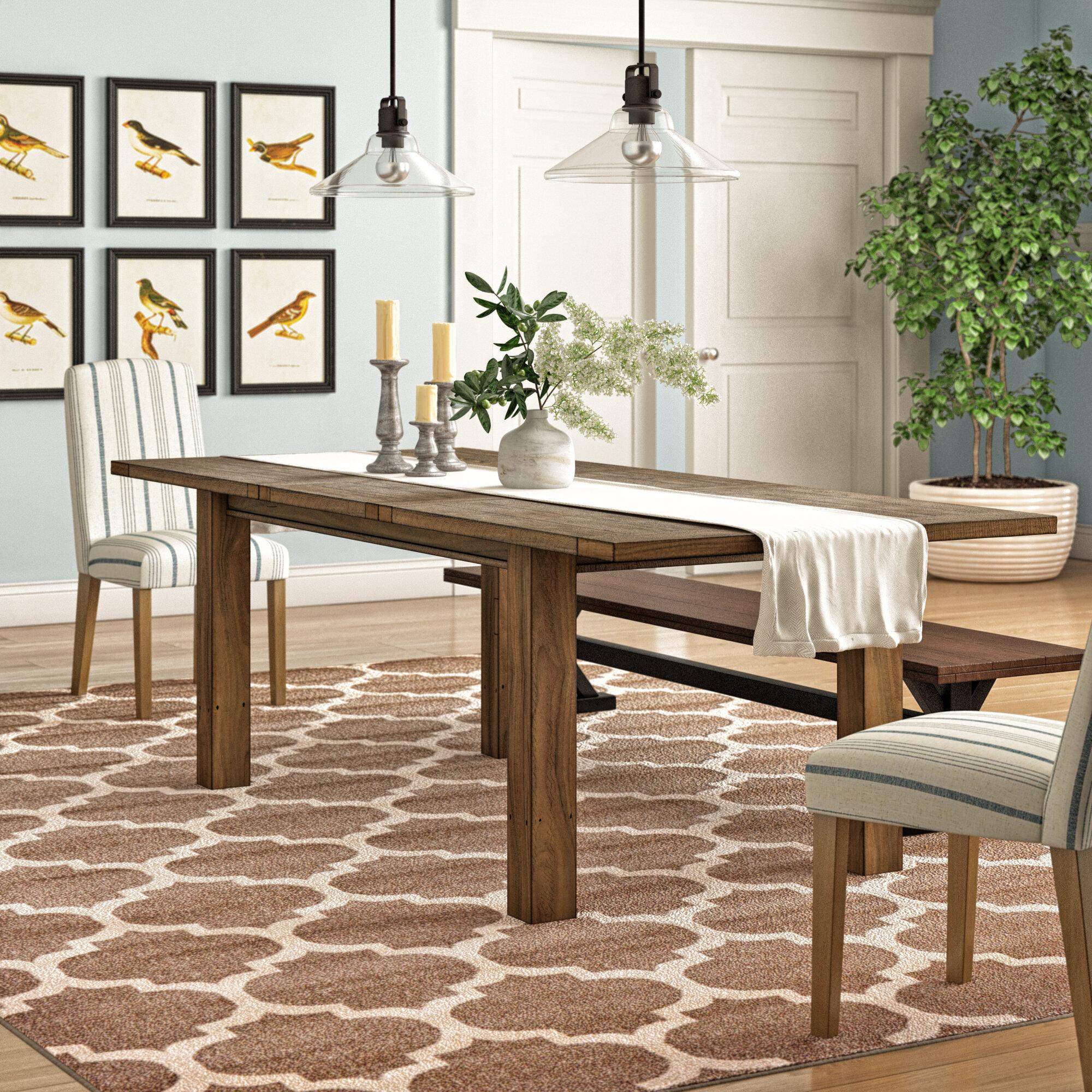 Rehausser Une Table De Salle A Manger table de salle à manger extensible en bois massif à aspect de bois flotté  egremt