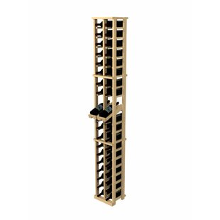 Rustic Pine 40 Bottle Wall Mounted Wine Rack