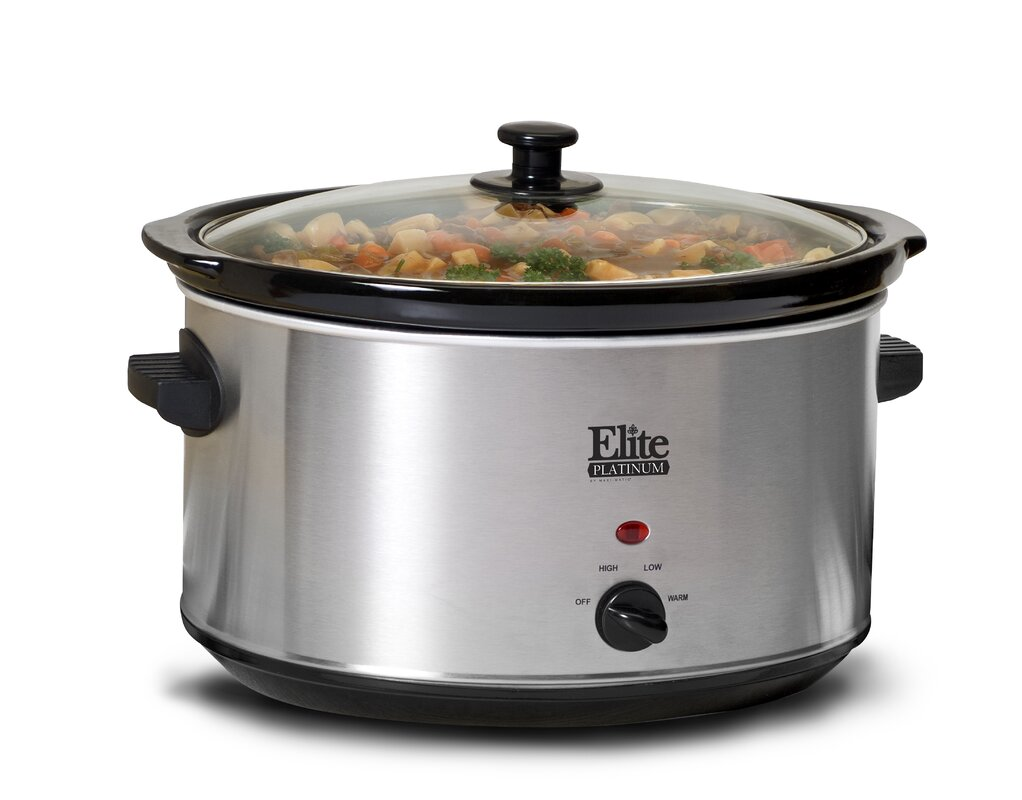 Elite by Maxi-Matic Elite by Maxi-Matic Platinum 8.5-Quart Stainless Steel Slow Cooker