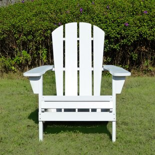 Cassity Relaxed Plastic Adirondack Chair by Highland Dunes