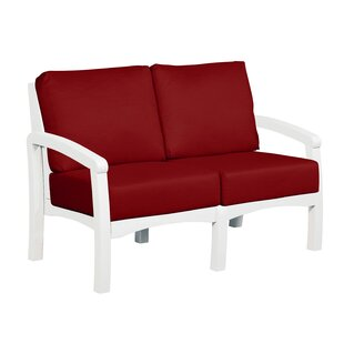 Clabaugh Loveseat with Cushions by Highland Dunes