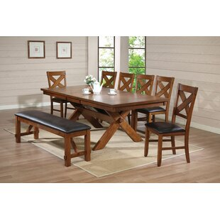 Hayley 8 Piece Extendable Dining Set Loon Peak