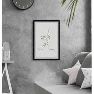 Modern Framed White Wall Art Allmodern