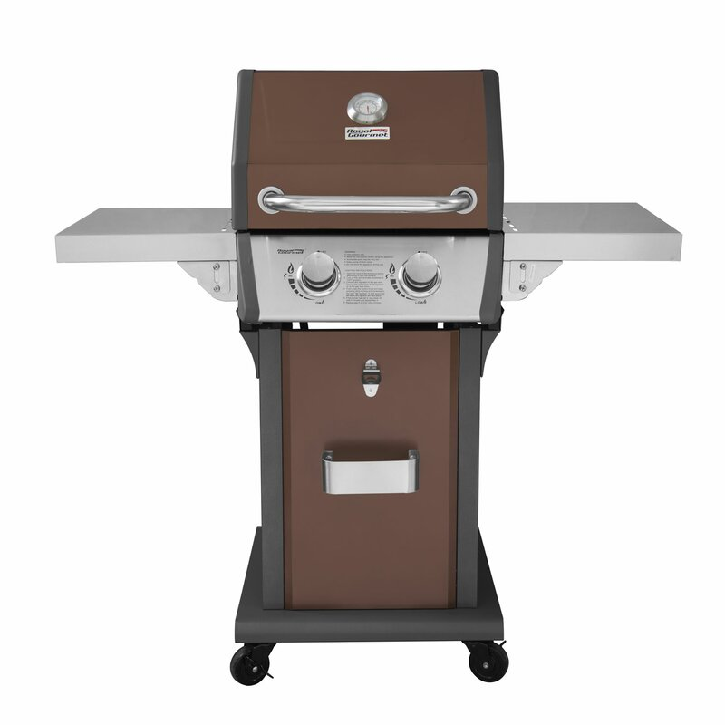 Patio 2 Burner Propane Gas Grill With Side Shelves