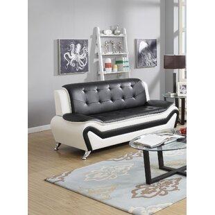 Maleah 2 Piece Leather Standard Living Room Set (Set of 2) by Orren Ellis