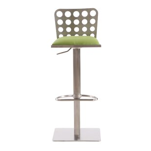 Tuers Adjustable Height Swivel Bar Stool Brayden Studio
