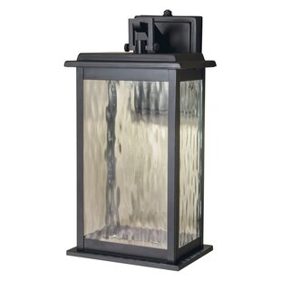 Tayler 1-Light Outdoor Wall Lantern by Breakwater Bay Comparison