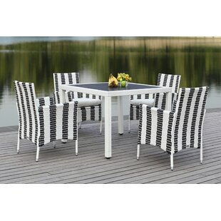 Thorntown 5 Piece Dining Set with Cushion..
