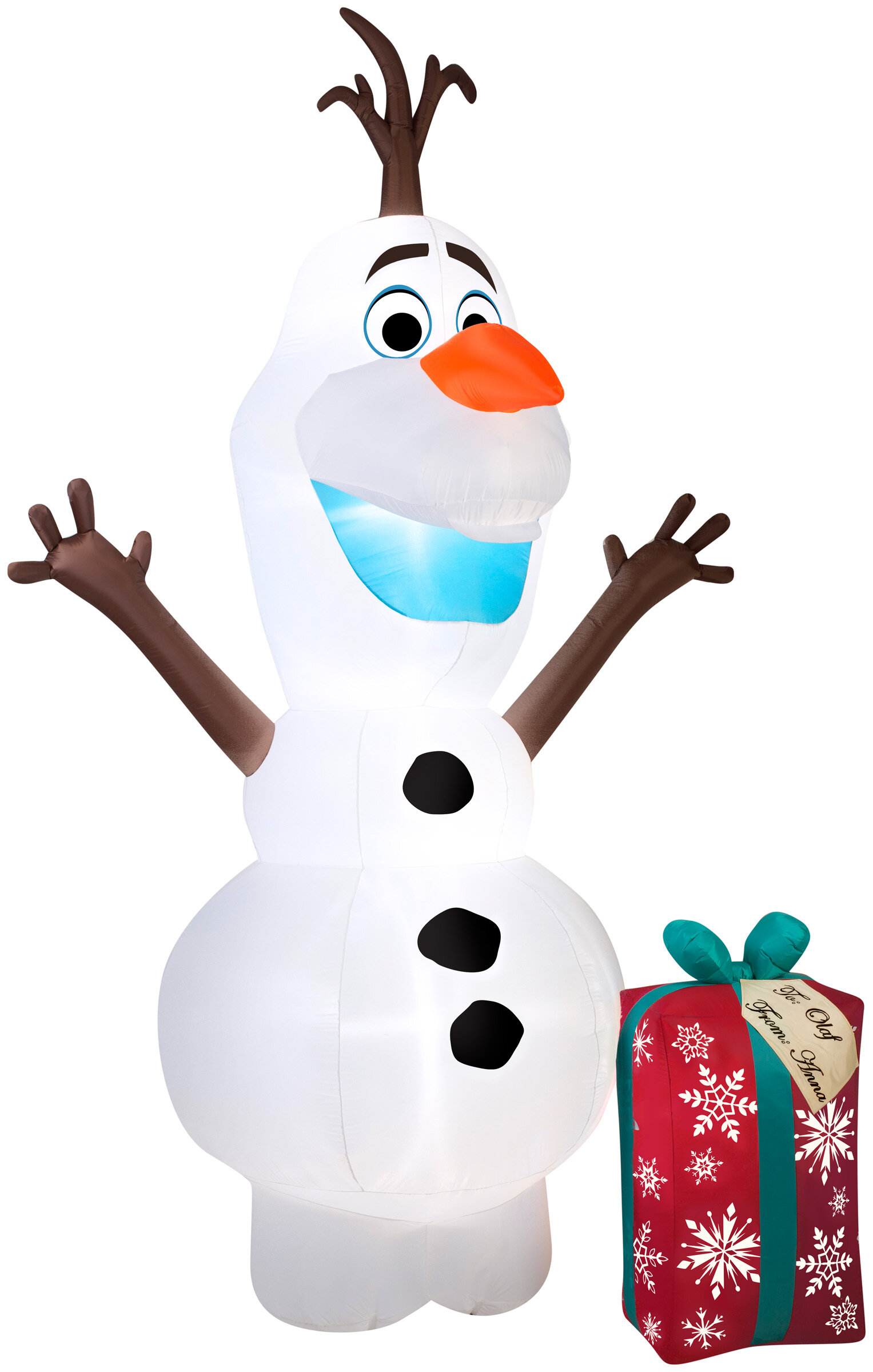 The Holiday Aisle Olaf with Present Christmas Oversized Figurine ...