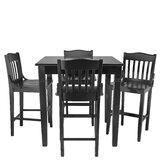 Weintraub 5 Piece Pub Table Set by Red Barrel Studio®