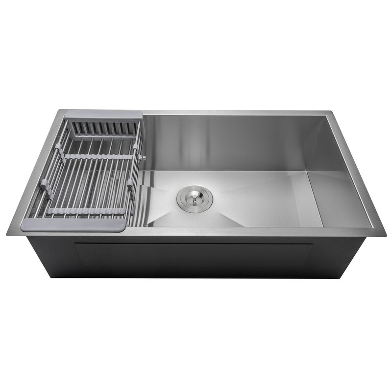 Akdy 32 Quot X 18 Quot Undermount Stainless Steel Single Bowl