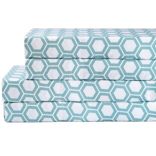 California Design Den Honeycomb 200 Thread Count 100% Cotton Sheet Set