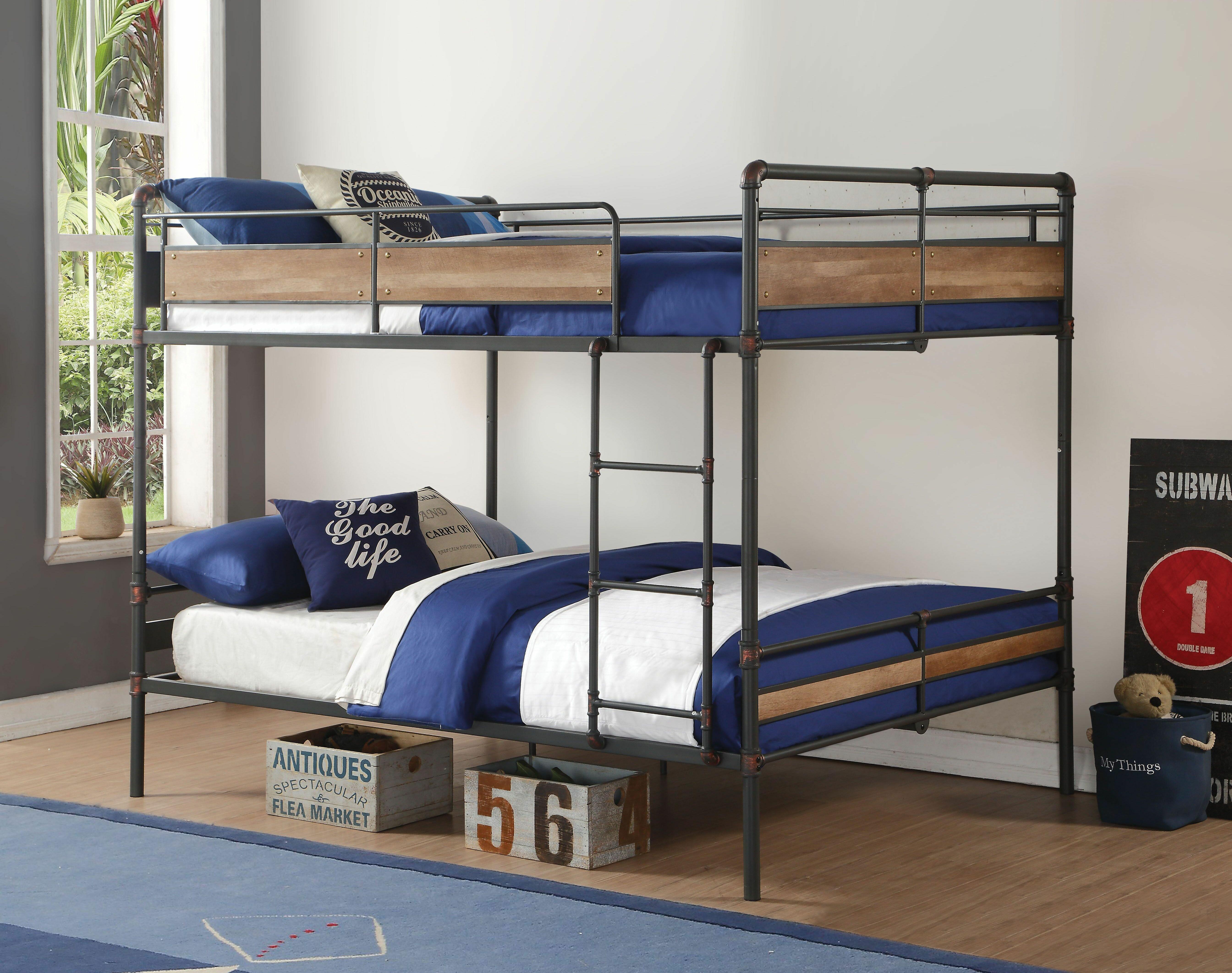Harriet Bee Boalt Queen Bunk Bed Wayfair