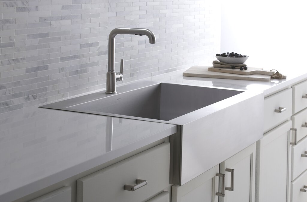 Single Stainless Steel Kitchen Sink Vault top mount single bowl stainless steel kitchen sink with vault top mount single bowl stainless steel kitchen sink with shortened apron front workwithnaturefo