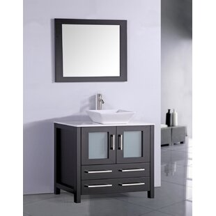 Bargain Neuhaus 36 Single Bathroom Vanity Set with Mirror ByEbern Designs