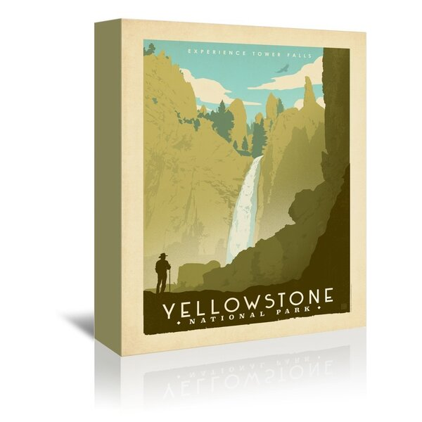 East Urban Home National Park Yellowstone 02 Vintage Advertisement On Wrapped Canvas By Anderson Design Group Reviews Wayfair