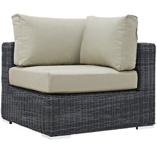 Keiran Outdoor Patio Corner Chair With Cushion by Brayden Studio Best