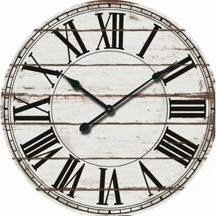 Oversized Rustic Wood 24 Wall Clock