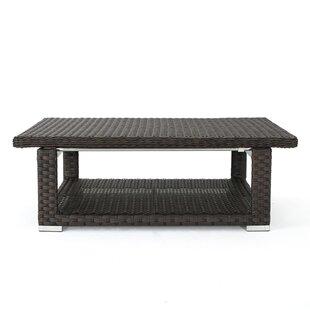 Latitude Run Pineiro Outdoor Extendable Wicker Coffee Table