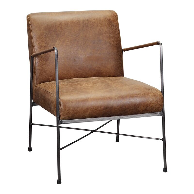 """Derry 22"""" W Top Grain Leather Armchair"""