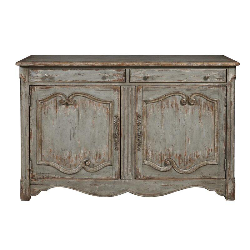 August Grove Henriksen Coastal 2 Door Bar Cabinet