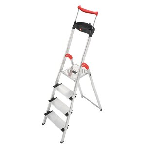 4.79 ft Aluminum Step Ladder with 330 lb. Load Capacity
