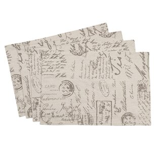 Noren Old Fashioned Script Placemat (Set of 4)