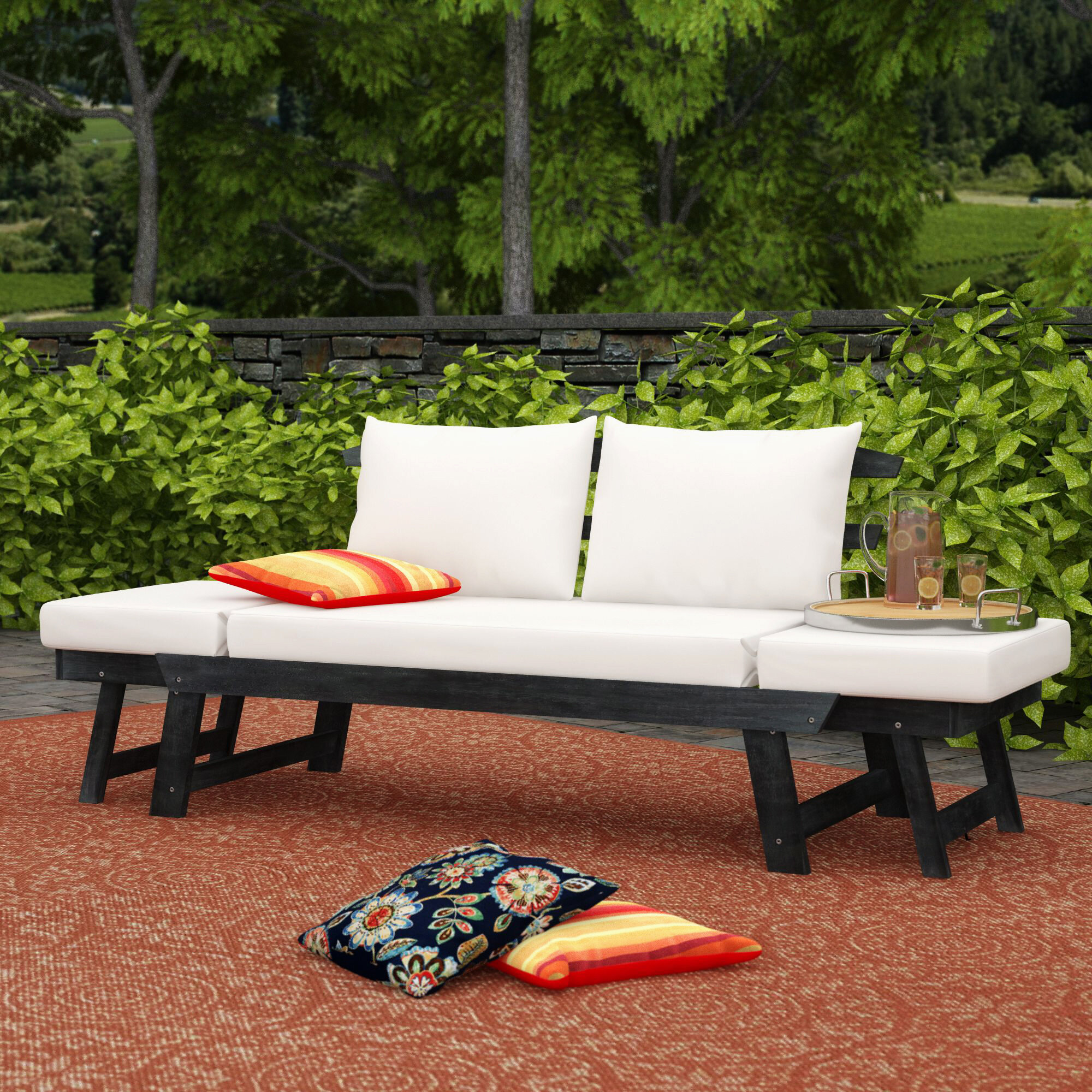 Birch lane heritage whitely patio daybed with cushions reviews birch lane