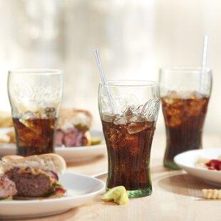 Coke Genuine 16.75 oz. Glass Everyday Glasses (Set of 6) ByLibbey