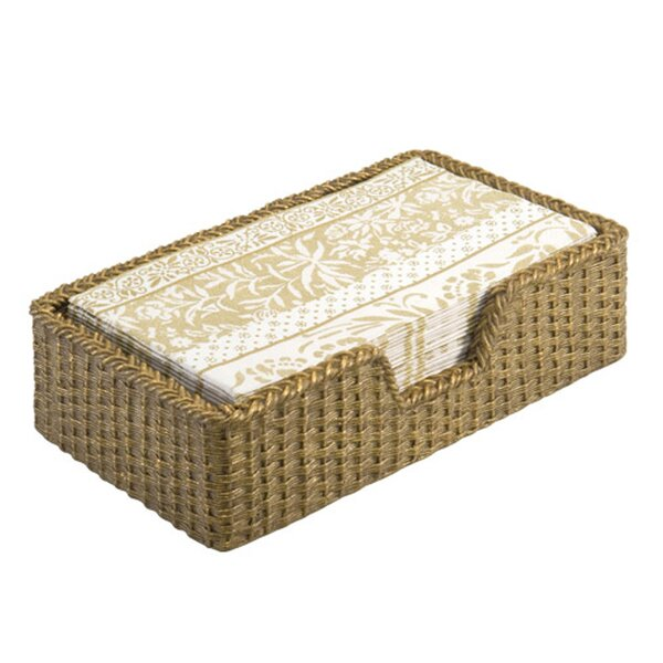 Organize It All Mirrored Guest Towel Tray in 13K Gold 19092W