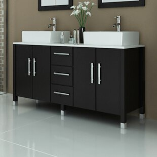 Big Save Sirius 59 Double Bathroom Vanity Set By JWH Living