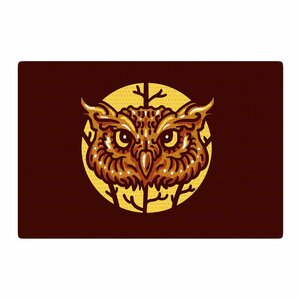 BarmalisiRTB Head Owl Digital Brown Area Rug