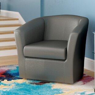 Agee Swivel Barrel Chair by Ebern Designs