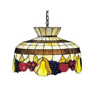 Art Glass 1-Light Bowl Pendant by Meyda Tiffany